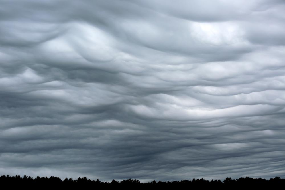 Undulatus asperatus clouds before a front in East Greenwich, Rhode Island, USA