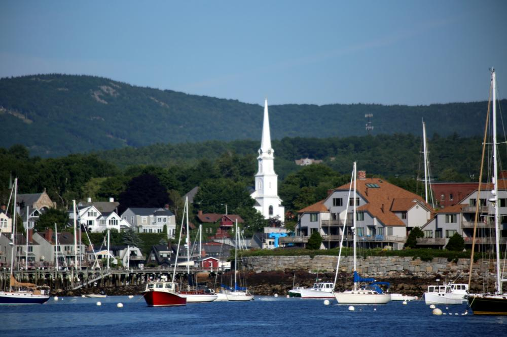 Camden Harbor. Maine, USA