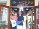 V & M outside the Montego Bay Yacht Club with our RQYS Burgee