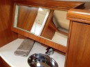 Close up view of vanity in forward suite.
