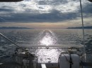 Early morning in the Ceralvo Channel headed to La Paz