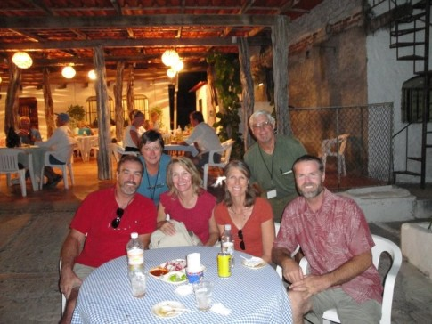 Our favorite La Cruz restaurant--Tacos del Calle.  We are actually sitting in the street with Mike and Lisa (Blue Aweigh), and Guy and Carol (Stray Cat).  The best meat tacos in the world!