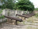the battery in the fortress at the mouth of the river anchorage in Santo Domingo,DR