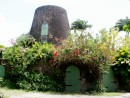 Old sugar mill tower now a honeymoon suite in Nevis