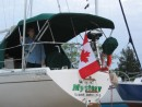 New flag - she is now an official Canadian Registered Vessel (Documented, for my American friends)