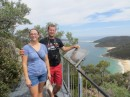 Nathan and Maddy on our hike up Tomaree Head Summit