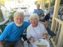 Our friends from Seattle who have their boat, Code Blue here currently; Steve and Judy.