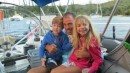 Our yachtee friend, Vincent with his son and friend came to visit.
