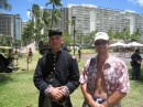 We were at the museum on a special civil war reenactment day.: Army museum in Waikiki.