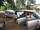 The Van and trailer are loaded up for our 4000 trip from Seattle to Maine via some relative homes.