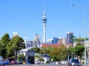 The Sky Tower as seen from the neighboring Ponsonby district.