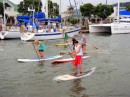 More paddle board racers coming by