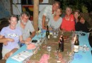 Cyndi & Rich (SV Legacy), Dean & Sabina (SV Local Talent) and us - at the La Pallea Restaurant, Vava