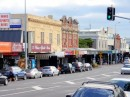 A view of the main street in Ponsonby, which extends for a mile or more, with a mix of the old and new.