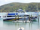 The ferry to Kawau Island does triple duty - carries mail, local passengers, and tourists - and features a bar and BBQ on board