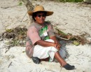 Salote resting on the beach; it