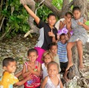 Kids from Maunaira, the village just down the path from Maunaithaki.