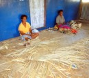 Women of the village weaving. Another item on Linda