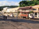 Sleepy main street Savusavu as we board the bus at 7:15 am on Saturday morning; it won