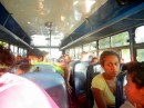The bus fills up in Savusavu.