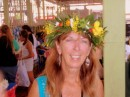 Flower crown from the Public Market, Papeete, Tahiti.