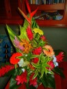 A bouquet of tropical flowers aboard Brigt Angel, from the Public Market in Papeete, Tahiti.
