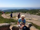Cadillac Mountain in the Acadia National Park near Bar Harbor