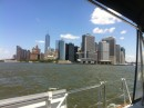 The Battery, New York- Hudson to the left and East River to the right