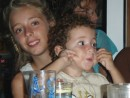 "Emily and Innaya having fun at the after concert party on board ""Arctracer"""
