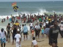 Durban beach on a Saturday