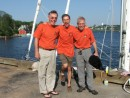 Lon and Jan and I in Lunenburg pre departure day from Lunenburg to Azores