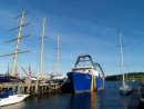 only in Lunenburg can a open 60, a dragger and a square rigger all share a wharf