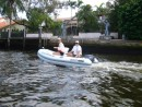 Bob and Mardi have the same dingy - exploring the canals New River, Fort Lauderdale 2007