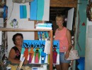 Beth and Belize artist Lola