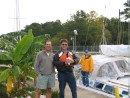 Jim and the loclmaster at Deep Creek, a conch player of some note(a bad pun)