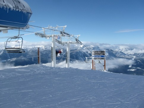 top of Stoke Chair, Revelstoke