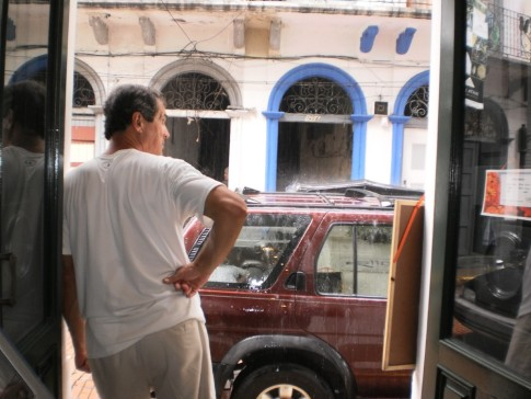 "Waiting for the rain. Panama City ""Old City"""