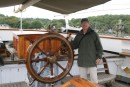 Jim at the helm of the Training ship.