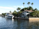 Typical waterfront home & yacht, Ft Lauderdale