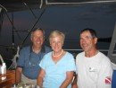 Bill & Mary Mursell and Jim off Pumpkin Key, Fla.