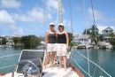 The girls ready for a day ashore, Hope Town, Bahamas