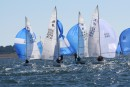 Etchells US Nationals Regatta, action at the windward mark