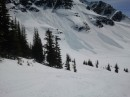 Spring avalanche debris, Lakeside Bowl, Blackcomb