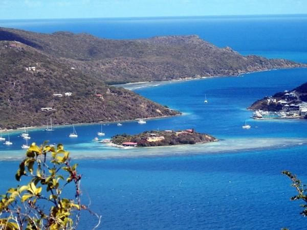 Marina Cay from Above Trellis Hike