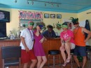 Mardi Gras party before snorkeling.