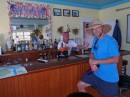 Jeff and Keith in the bar/clubhouse at Berry Islands Club.
