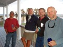 Bob Carr, Jim, Steve Kauffmann, and Jeff enjoying a sun downer on the deck