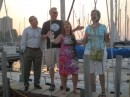 "Good friends, Mick, John, Maire, and Laura singing ""Happy Sails to You"""