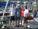 Family photo on the deck of Mezzaluna - Steve, Jeff, Katie, Bill - sure beats the church directory
