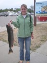 Kari with the 3rd biggest catch of the day - Brown Trout Festival